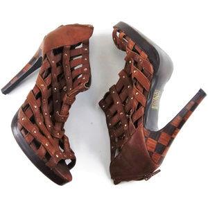 BABY PHAT Marianela Cage-Y Gladiator Shootie Shoes
